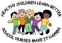 image of children dancing with the title Healthy children learn better and school nurses make it happen